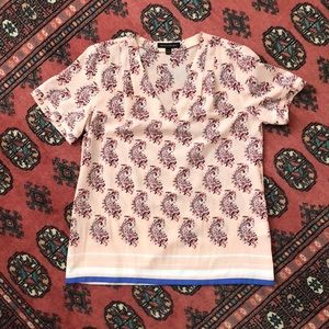 Banana Republic Ezra Paisley Short Sleeved Shirt
